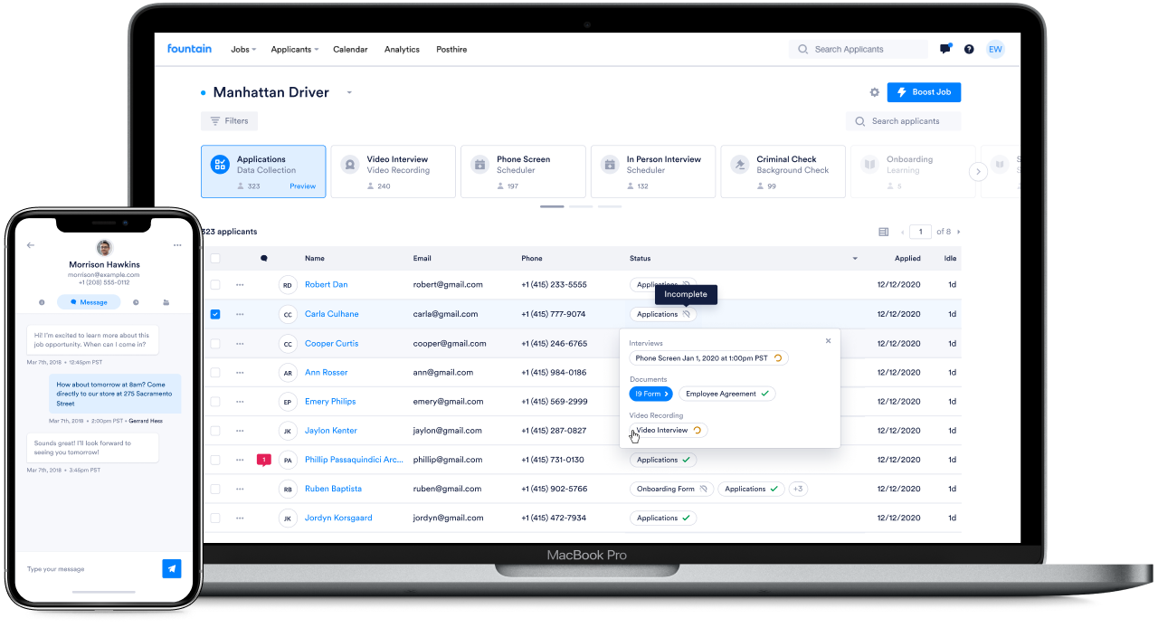 Fountain: Best All-In-One Applicant Tracking System For Recruiting Hourly Employees
